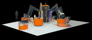 BC Tel Group 50' x 50' trade show exhibit