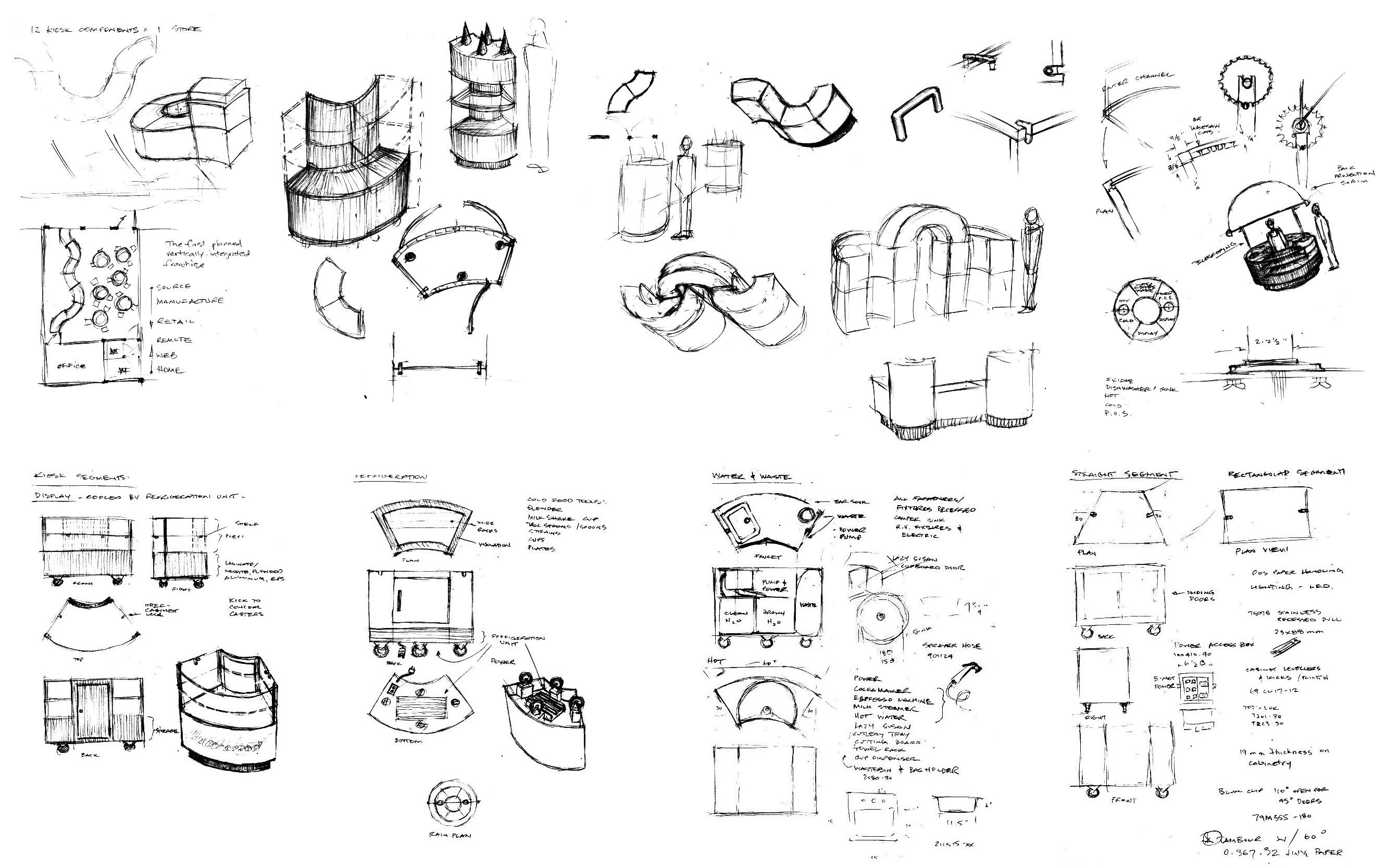 Xoxolatl kiosk concept sketches